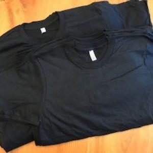 NWOT BUNDLE Blank Black American Apparel TShirts